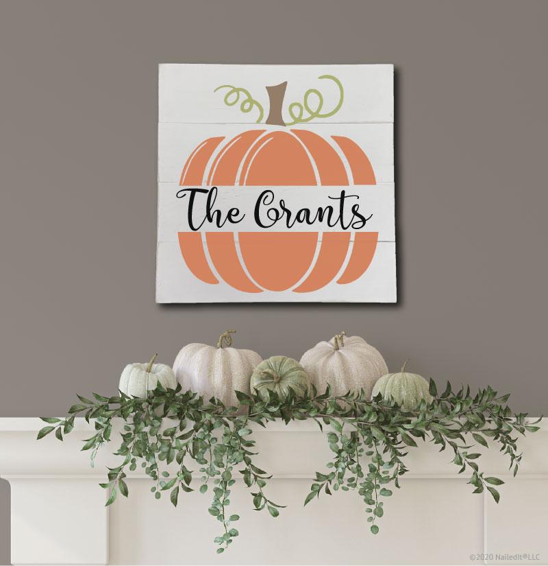 4010 Personalized Split Pumpkin