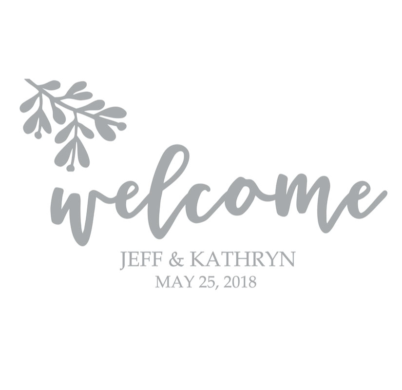 7018 Welcome Bride and Groom Names