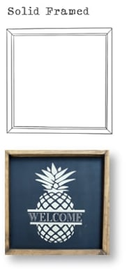 Wood Options - Solid Framed