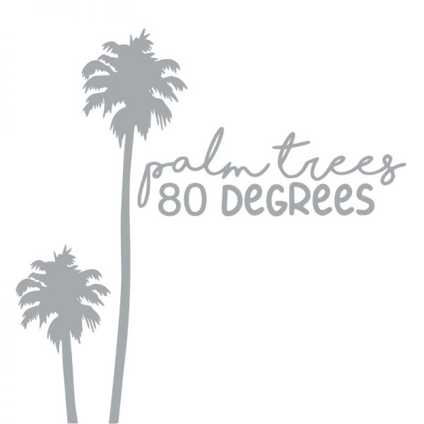 6066 Palm Trees 80 Degrees